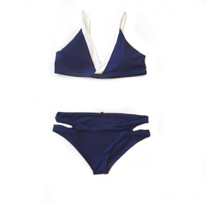 MR Navy/Wht Top Swim Set