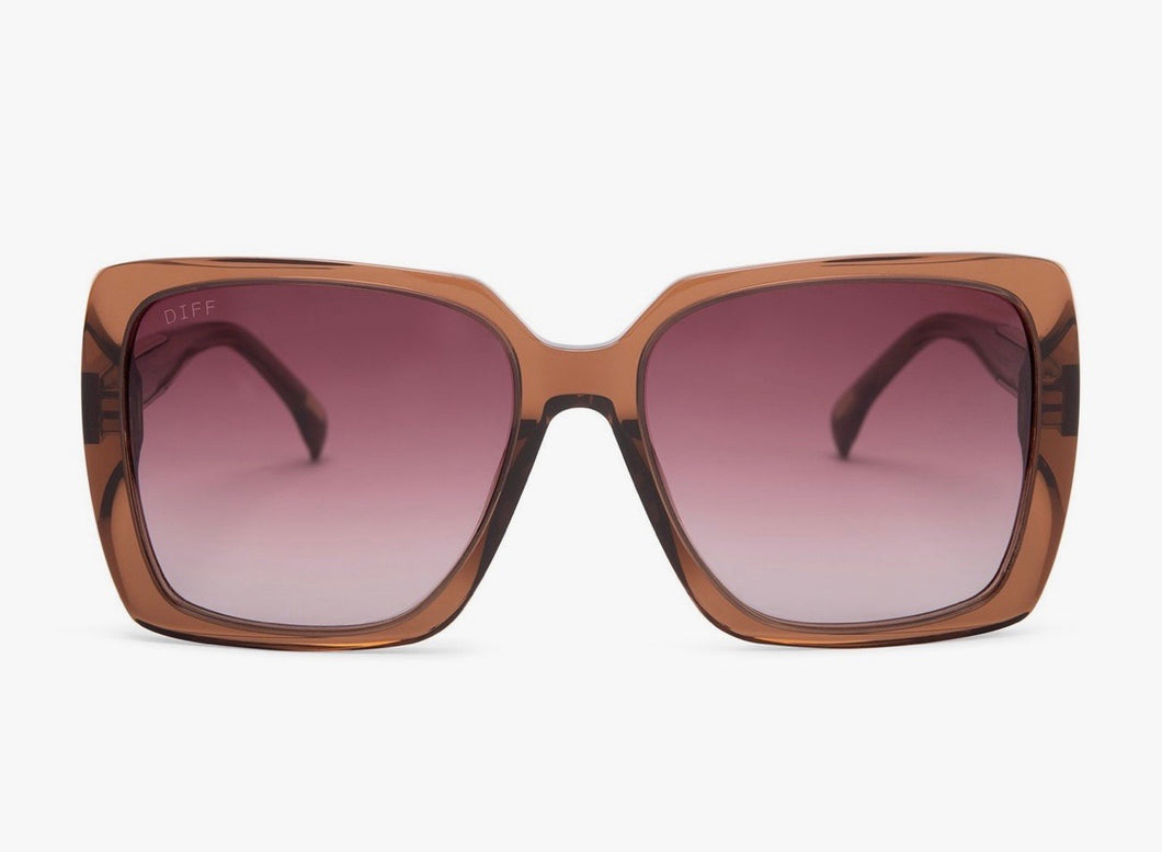 Sophie Dark Taupe/Wine Gradient Sunglasses