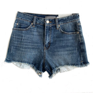 Side Slit Peek-A-Boo Shorts
