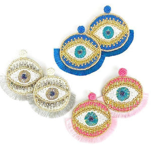 Beaded Eye Earring