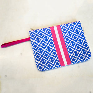 Delray Wet/Dry Bag Lapis/Ht Pink