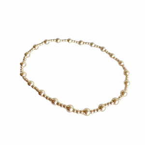 Extends Classic Sincerity Pattern Gold 4mm Bead Bracelet