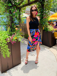 Tropical Nights Midi Skirt