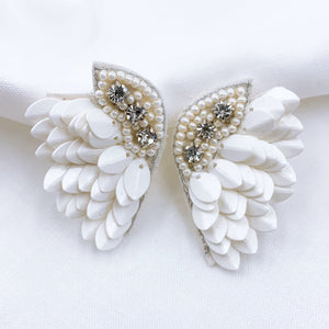White Angel Earring