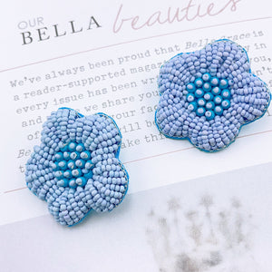 Blue Topaz Flower Earring