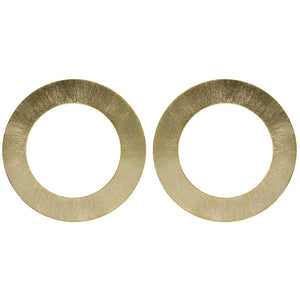 Large Gold Circle Shawn Earring