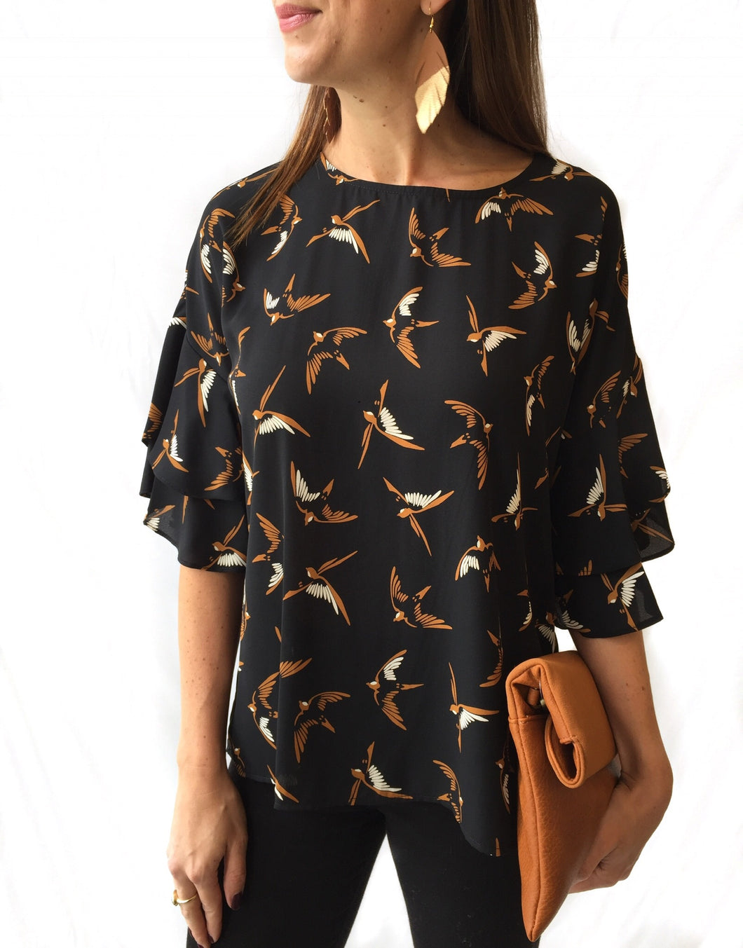 Bird Flutter Slv Top