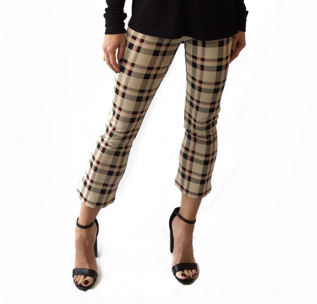 Mod Plaid Crop Legging