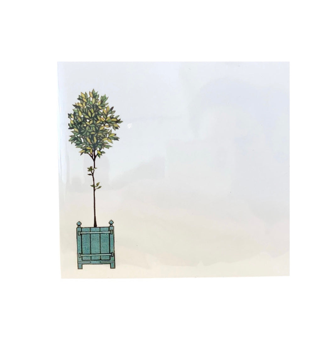 Topiary Square Notepad