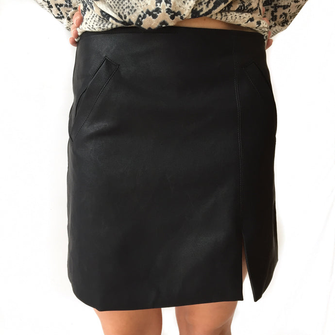 GD Black Leather Skirt