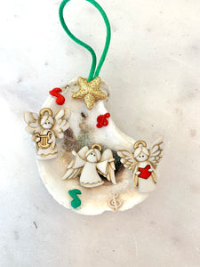 Choir angels oyster ornament