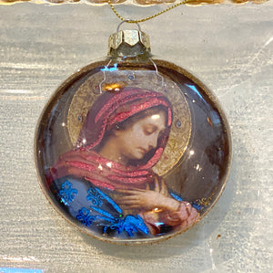 Madonna Medallion Ornament