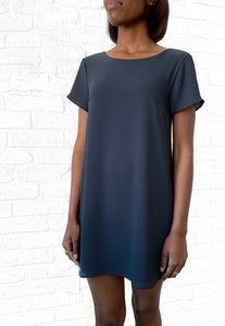 Short Sleeve Charcoal Dress