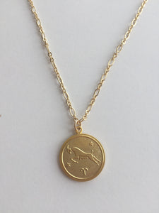 Medallion Horoscope Necklace
