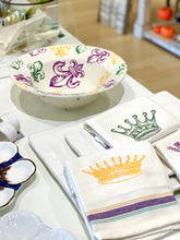 Purple/Green/Yellow Serving Bowl