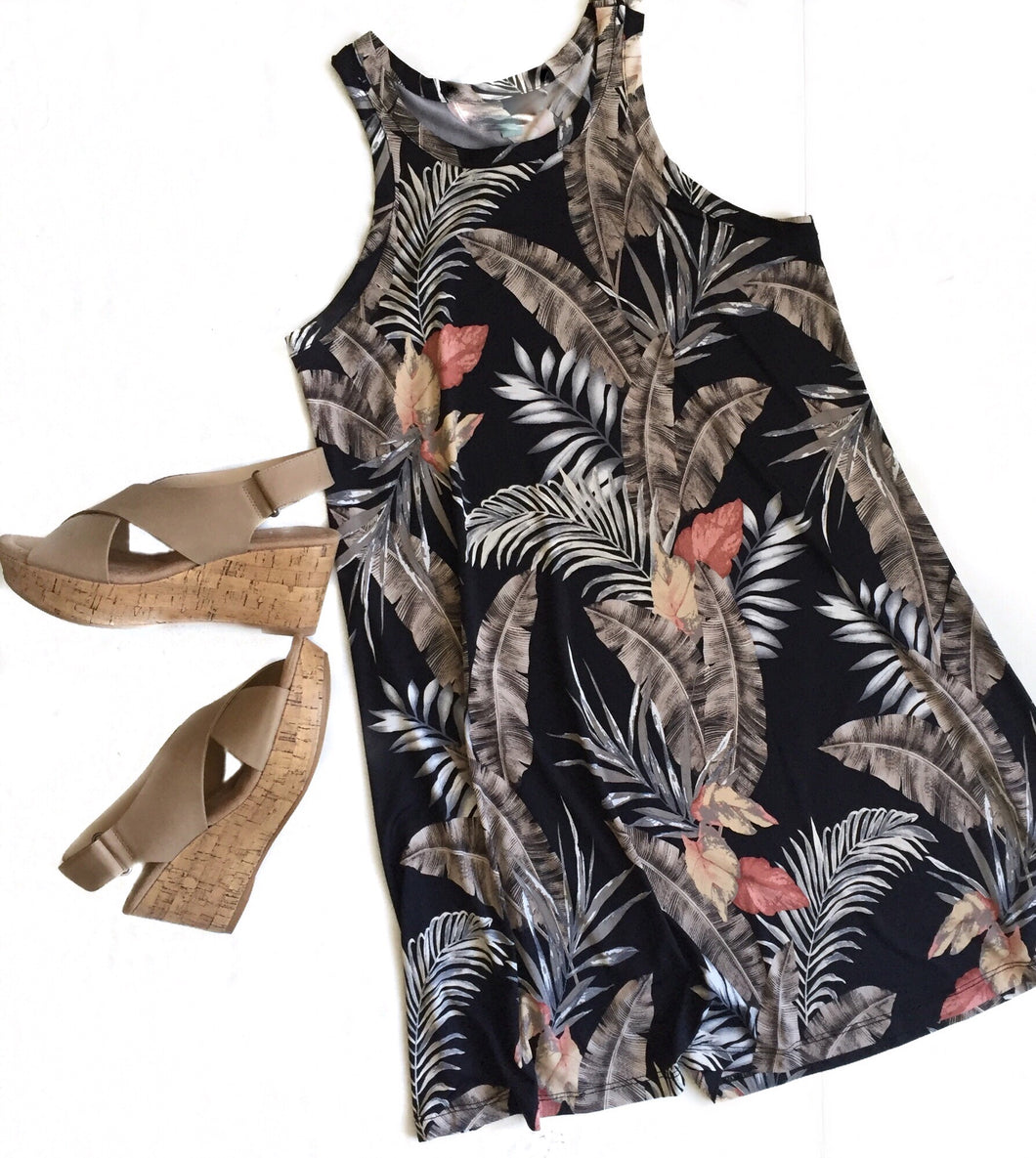 Tank Dress-Palm Floral- GD