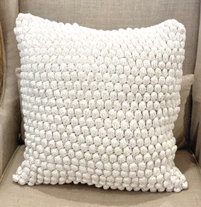 20x20 Crochet Pompom Pillow