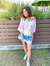Tie Dye Overlap Mini Dress