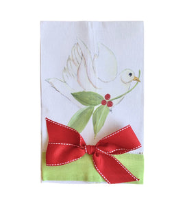 Dove w/ Bow Tea Towel