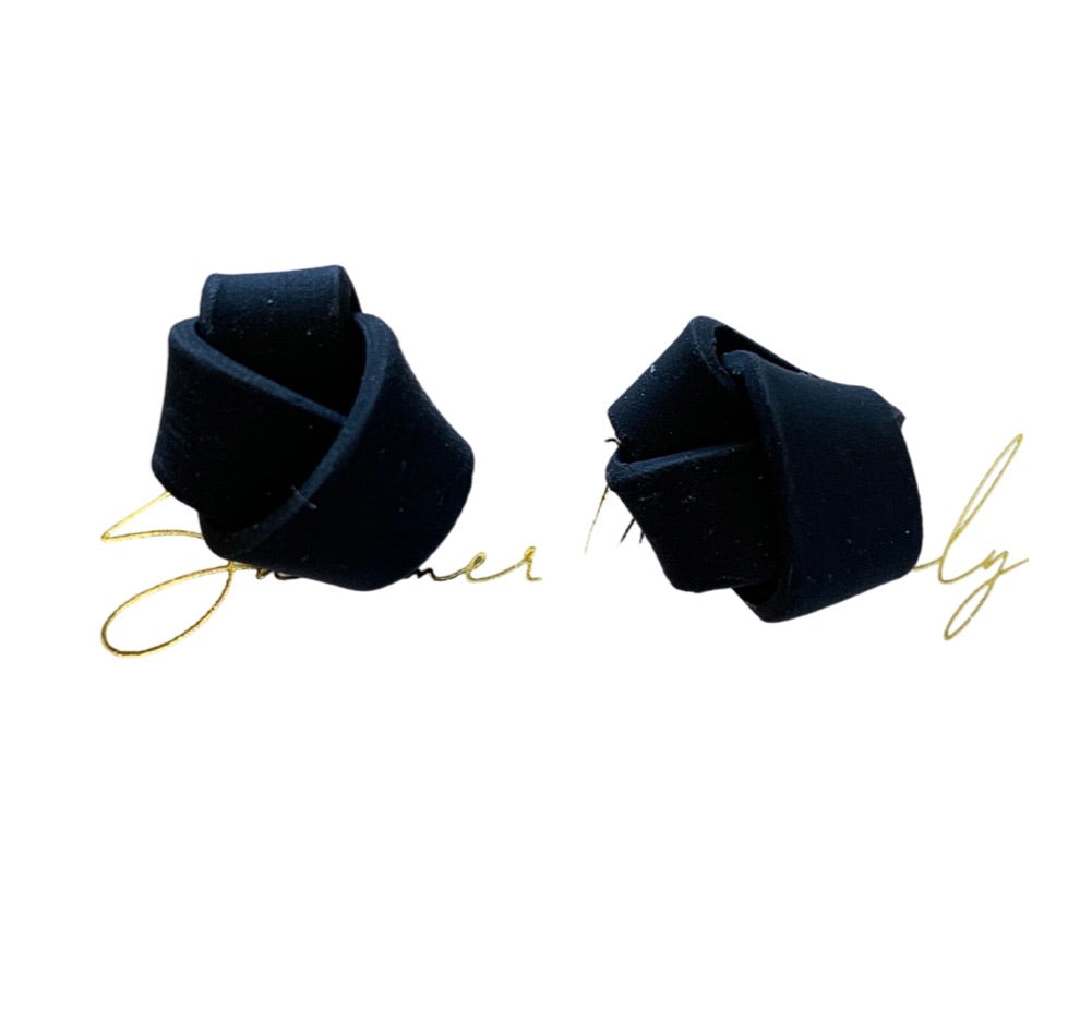 Clay Love Knot Studs