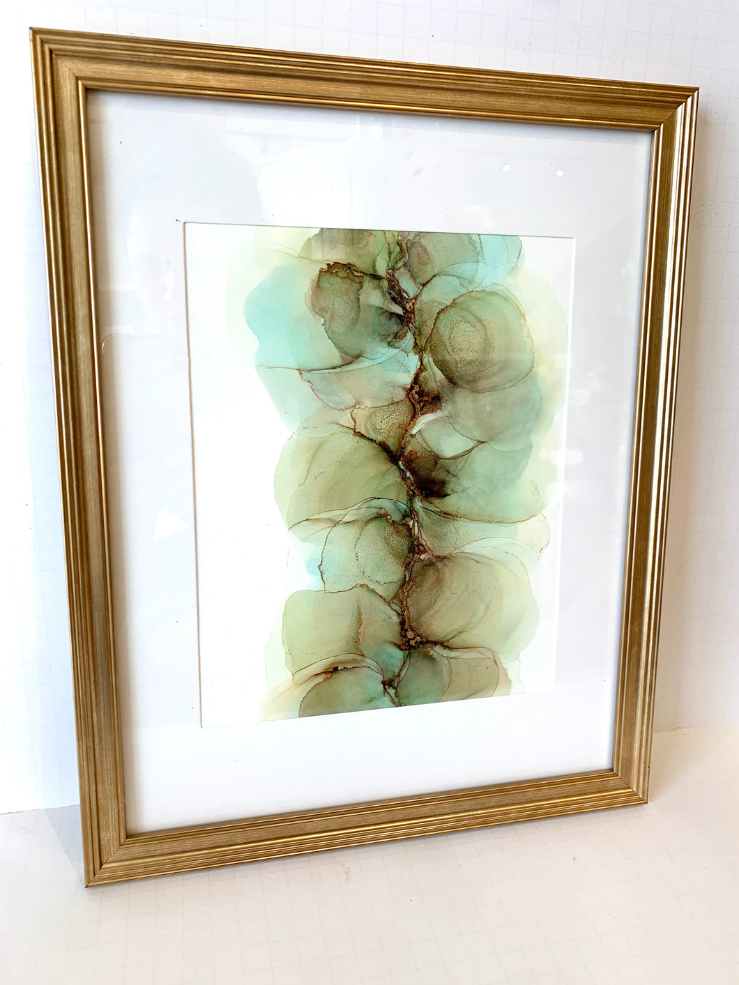 11x14 Framed Abstract Ink