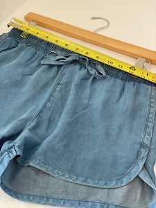 Denim Tencel Shorts