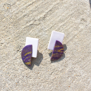 Maive Earrings Purple/Gld