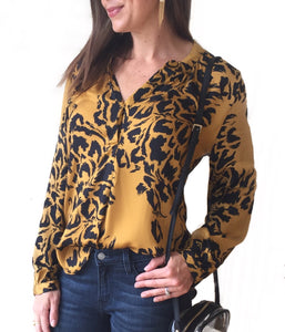 MR L/S Cheetah Button Up Top