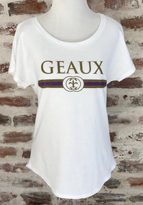 GD Geaux Purple + Gold Dolman