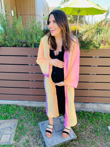 Orange/Pink Ombre Duster