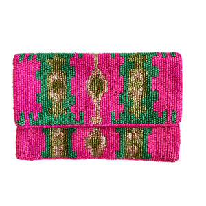 Fuschia Mini Beaded Bag