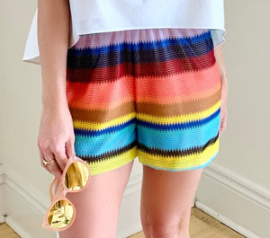 Multi Stripe Santa Fe Short