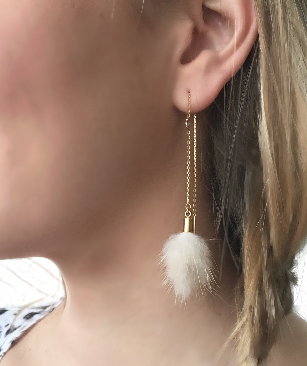 Rabbit Thread Earring