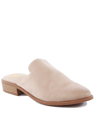 Blush Vegan Leather Mule