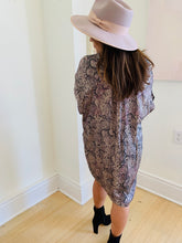 Grey Snake Vneck Dress