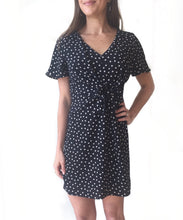 MR Vneck Front Knot Dress