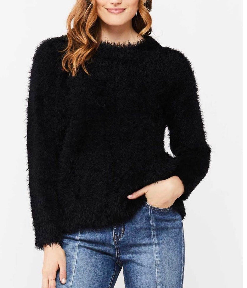 Black Eyelash Sweater