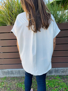 Ivory Vneck Tunic Top