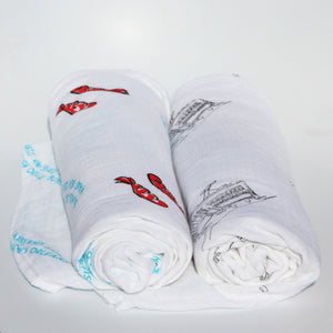 Louisiana Boys Swaddle Set