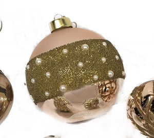 Glass Beaded Vintage Ball Ornament