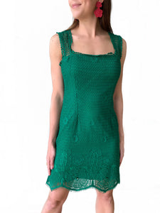 Green Crochet Dress