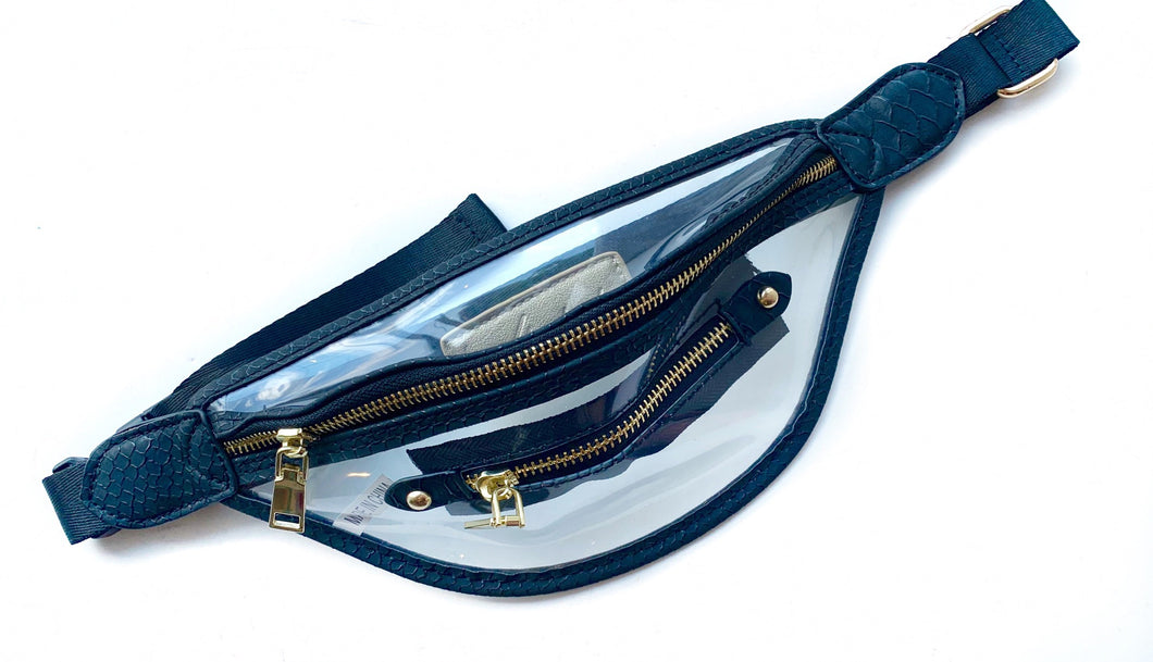 Clear Black Fannypack