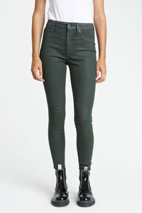 Coated Green Aline Skinny