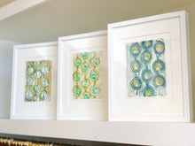 Framed 11x14 Monoprints Abstract