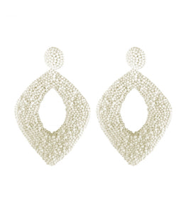 Beaded Diamond Earrings