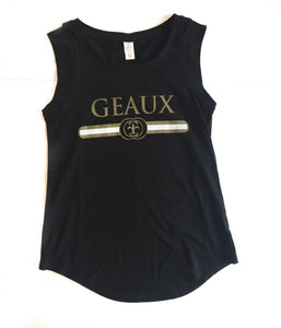GD Geaux Black + Gold Tank