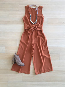 MR Wide Leg Jumpsuit w/ Tie