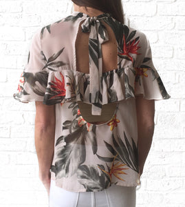 GD S/S Tropical Ruffle Top