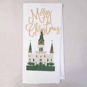 Cathedral Christmas Hand Towel