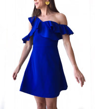 Royal One Shldr Ruffle Dress